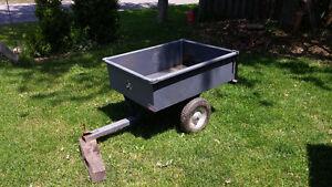 Dump cart garden trailer