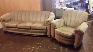 Vintage 65 yr Couch and Chair