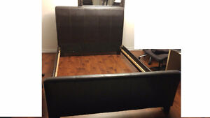 Leather Queen Bed