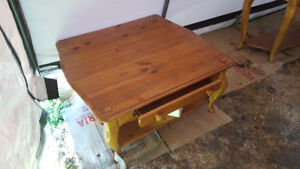 PINE COFFEE TABLE AND BUFFET TABLE (TV STAND)
