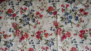 25 FEET FLORAL DRAPERY MATERIAL