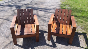 New wooden Patio Chairs