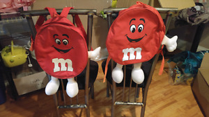 2 Red M&M Collectable Backpacks!!