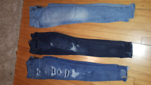 3 pairs of American eagle Jeans. $10 a pair $25 for all