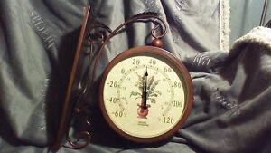 New Two Sided Wall Clock and Temperature Gauge