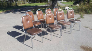 8 strong chairs in good condition