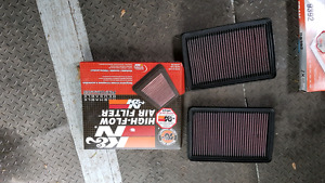 2 K&N air filters $30 each