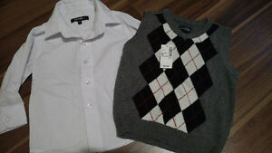 New with tag vest and white shirt 2T
