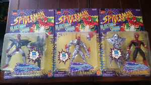 3 Electro-Spark Spider-Man action figures