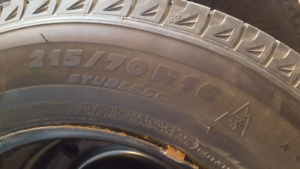Michelin XI-2 215/70 R16 with rims