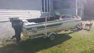 16 foot bow rider with 70 hp mercury