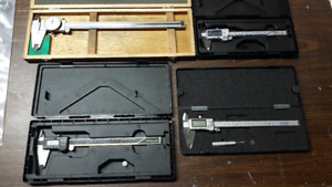 "Mitutoyo 12"", 8"", 6"" and Gray Tools 8"" Vernier Calipers"