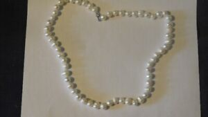 30-45 - FRESHWATER WHITE PEARLS NECKLACE