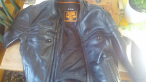 2 top of the line heavy !Men's  Leather motorcycle jackets