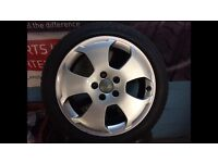 17inch Audi alloys with tyres