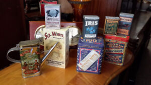 COLLECTION OF TIN CANS ADVERTISEMENT ALL FOR ONLY $ 48.00