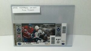 MONTREAL VS. TORONTO TICKET UN-USED