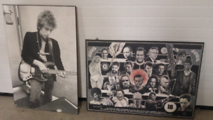 Man Cave Decor - Bob Dylan and Movie Legends