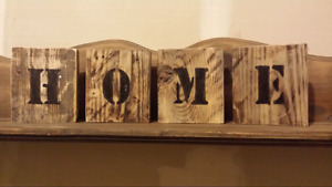Wooden word blocks