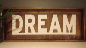 "Rustic, vintage enspired ""DREAM"" sign"