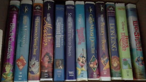 collection of Disney movies on vhs