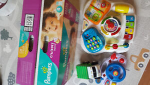 New diaper box and toys for $ 30