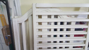 Antique white crib