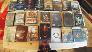 Lot de jeux d'ordinateurs