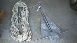 Danforth 1600 boat anchor + 200 feet of Rode for sale