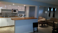2 bdrm, bright renovated suite AUG 1, all included