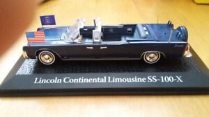 LINCOLN CONTINENTAL limousine SS - 100 -X   KENNEDY 1/43