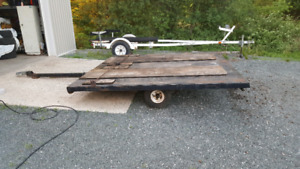 Double tilt and load snowmobile trailer