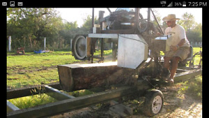 Sawmill for sale 16ft table and blade. Portable.