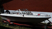 "Sunray 16"" boat with 60 HP mercury motor and trailer..."