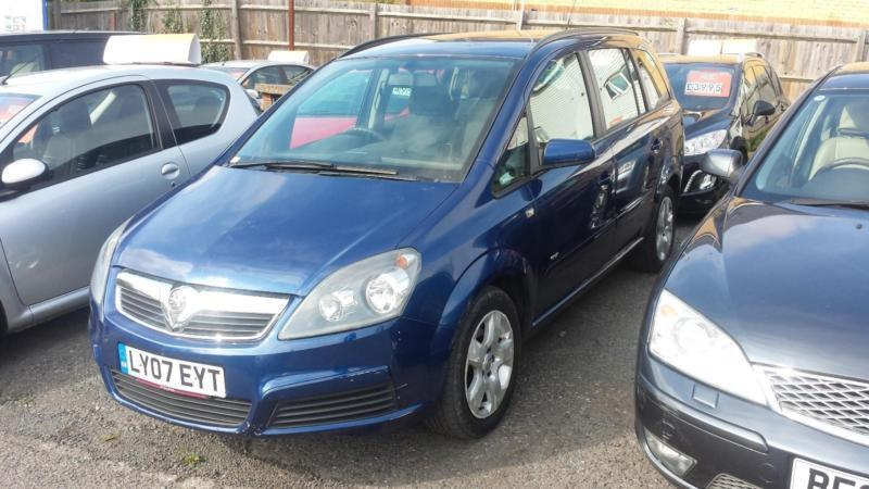 2007 Vauxhall Zafira MPV 1.6 16V 100 Club Petrol blue Manual