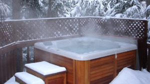 In search of a cabin rental with an outdoor hot tub