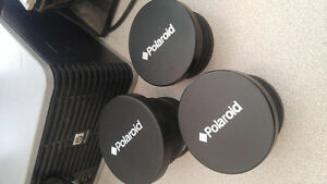 3 Polaroid camera lenses