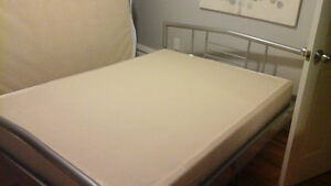Beautiful  bed frame with brand new box spring
