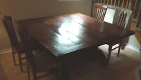 Square Solid Wood dining table