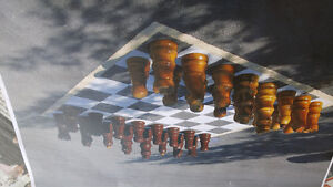 "OBO Chess Set Hand Made 24"" King"