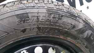 215/60/16 Goodyear ultra grip winter tires. Prince George British Columbia image 3