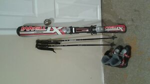 ski boots and poles youth downhill