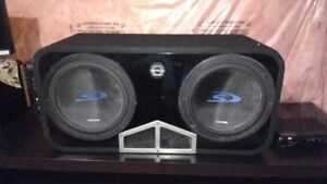 """Alpine - 2x 12"""" Subwoofer - AMP & Box! Wires Included - FullKit!"""