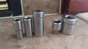"MINT VINTAGE Gray Tools 3/8"" 1/2"" Drive Sockets Adapters"