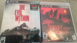 Ps3 games evil within and deadisland riptide