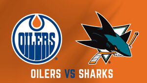 San Jose Sharks vs Oilers (Great Centre Ice Seats!)