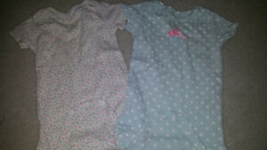 12 month baby girl.onsies 50cents each EUC