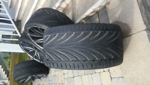 NICHE MAGS MISANO MATTE BLACK w TOYO TIRES 21in USED