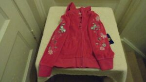 2 new girls zippered sweaters size 6