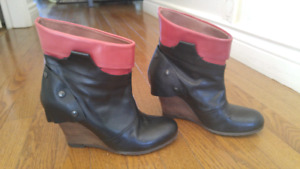 Gorgeous wedge booties for sale!